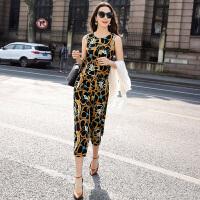 真丝时尚套装女夏2017新款韩版修身气质休闲桑蚕丝套装