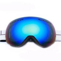男女双层防雾 滑雪镜 大球面无框 大视野雪地防护