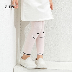 amii童装2017春新款女童连裤袜修身打底连袜裤中大童儿童女宝宝