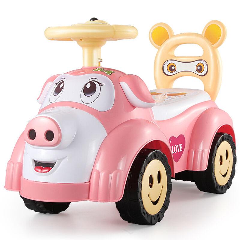锋达 儿童扭扭车带音乐滑行溜溜车 宝宝四轮学步助车1-3岁童车玩具