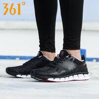 361男鞋智能跑鞋夏季运动鞋女网面361度黑色轻便透气休闲跑步鞋
