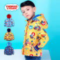 托马斯童装男童加厚外套中大童休闲保暖满印棉衣男宝宝冬季时尚棉服