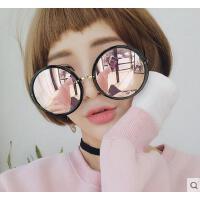 潮女太阳镜 墨镜 户外新款大框圆形粉色小辣椒网红款墨镜韩版太阳眼镜方圆脸