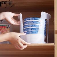 门扉 碗架 整理收纳厨房置物架沥水蓝碗筷架子盘子收纳架塑料碗架碗柜 餐具收纳盒
