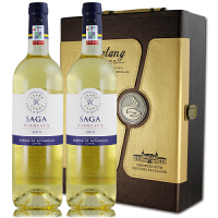 法国原瓶进口 拉菲传说波尔多白葡萄酒 750ml*2礼盒装 2014年