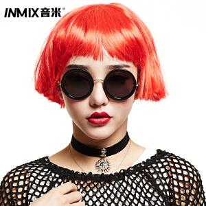 Inmix音米偏光墨镜 女士太阳镜 时尚镜 复古圆框 欧美 2014新品1272