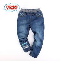 [满200减100]托马斯童装正版授权春季新款男童托马斯印花中童松紧腰裤子