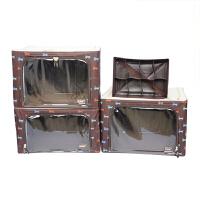 [当当自营]乐扣乐扣(lock&lock)小狗图案百纳箱4件套装LLB575CSH604咖啡色 66L2个/55L1个/6.5L1个收纳盒整理箱收纳箱