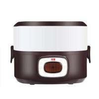 双层电热饭盒 迷你加热饭盒陶瓷可插电保温饭盒 蒸煮热饭器
