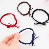 韩版手工编织纯色头花扎头发发绳头绳 麻花扎头发橡皮筋发饰头饰