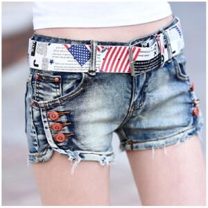 【当当年中庆】2017时尚韩版修身显瘦弹力包臀超短裤