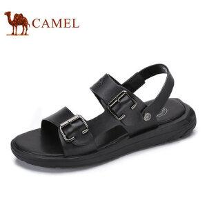 camel骆驼男鞋 2017夏季新品凉鞋男舒适时尚休闲清凉露趾沙滩鞋