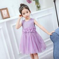 童装女童连衣裙 吊带裙新款儿童公主裙无袖女孩裙子
