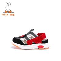 【两件6折 三件5折】Miffy米菲儿童凉鞋男童夏季2017新款女童宝宝机能鞋1-3岁包头凉鞋