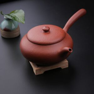 【只有一个】纯手工全手工茶壶正宗宜兴名家刘强原矿朱泥唐羽紫砂壶(带证书)