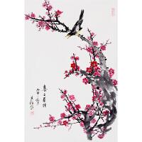 《喜上眉梢》危民旺中国陶瓷书画艺术大师w51