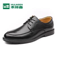 木林森男鞋  2017年新款商务正装皮鞋 系带牛皮男士休闲鞋子05177001