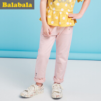 巴拉巴拉女童休闲裤女孩童裤2017 夏装新款中大童裤子 儿童长裤女
