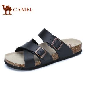 camel骆驼男鞋 2017夏季新品 时尚休闲一字拖鞋日常休闲男拖鞋