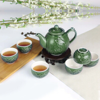 【乾唐轩活瓷】鱼跃龙门茶具1壶1海6杯创意陶瓷功夫茶具 茶壶茶海茶杯组合套装