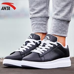 安踏运动板鞋女鞋春季时尚潮流百搭增高低帮女板鞋小白鞋12648040