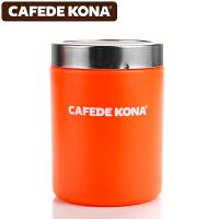 CAFEDE KONA撒粉器 不锈钢撒粉筒罐精细网纱式桶可可粉 咖啡粉具 桔色CK8996