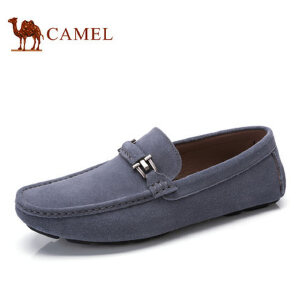 camel骆驼男鞋 2017春季新品 豆豆鞋男驾车鞋休闲套脚鞋皮鞋子