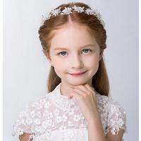 新款时尚女童花环蕾丝带发箍 儿童发饰花童配饰