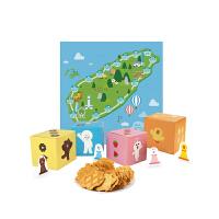 【年货】一之乡line friends大富翁格莉朵饼干礼盒8片*4 台湾进口可爱糕点饼干新年礼盒
