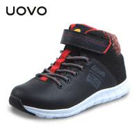 UOVO2017冬季新款儿童运动鞋男童休闲鞋时尚高帮童鞋 扎什伦布
