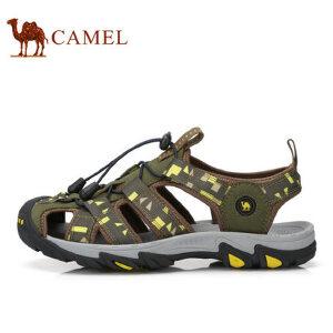 camel骆驼男鞋 2017夏季新品户外凉鞋 包头男沙滩鞋耐磨男鞋凉鞋