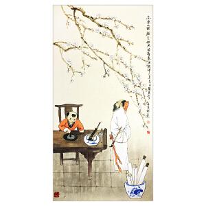 张苠  王冕诗意(本拍品为出版物原件)