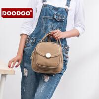 【支持礼品卡】DOODOO 双肩包女韩版背包学院风女士包包简约百搭2017新款潮书包女 D6226