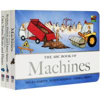 华研原版英文纸板书启蒙认知绘本ABC Book of Machines儿童机械交通工具外太空科普入门书