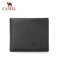 Camel/骆驼钱包男士钱夹商务休闲横款牛皮皮夹男正品短款卡包