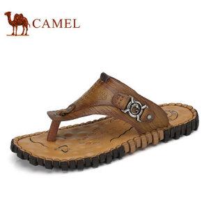 camel骆驼男鞋 夏季新品户外休闲 夹脚人字拖清凉驼鞋男