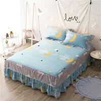 全棉床笠 韩版花边床裙床罩 床垫保护套罩床套 带绑带1.2/1.5/1.8m米床