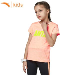 安踏童装 2017新款夏季儿童t恤纯色中大童套头女孩短袖36725142