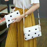 莫尔克(MERKEL)新款女手包手拿包女零钱包黑白波点百搭时尚女单肩手包斜跨小包包钱夹