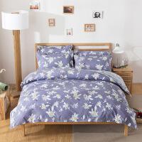 御目 床上用品 学生宿舍简约格子单人双人床单被套被罩枕套四季通用三件套床上四件套家居用品