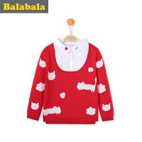 巴拉巴拉童装女童毛衣长袖小童宝宝线衣2017春装新款 儿童针织衫