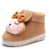冬季棉拖鞋女保暖可爱卡通居家室内月子厚底防滑毛棉鞋