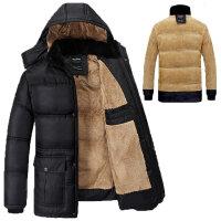 冬装中老年棉衣爸爸装加厚大码  中年棉服老人棉袄立领外套