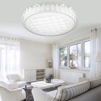 NVC 雷士照明 客厅led吸顶灯 现代圆形水晶风格灯饰40W节能灯具