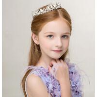 新年新款儿童时尚水钻发饰 花童发箍头饰女童演出发箍配饰