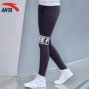 安踏女裤运动长裤冬季加绒加厚字母运动打底长裤16648752