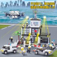 开智儿童益智积木男孩城市警察局组装大型拼装玩具8-10-12岁6725