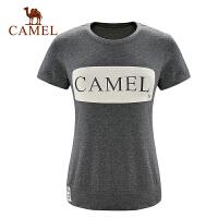 camel骆驼户外T恤 女款休闲圆领短袖T轻薄透气时尚舒适T恤