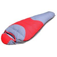 户外露营登山羽绒睡袋  成人妈咪式带帽防水睡袋加厚保暖