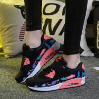 2016秋季新款女子气垫运动鞋跑步鞋复古内增高休闲鞋潮流女士鞋
